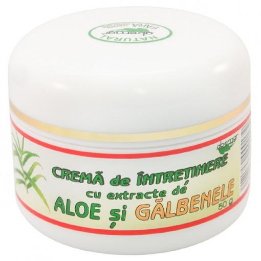 Crema intretinere cu aloe si galbenele - 50 g