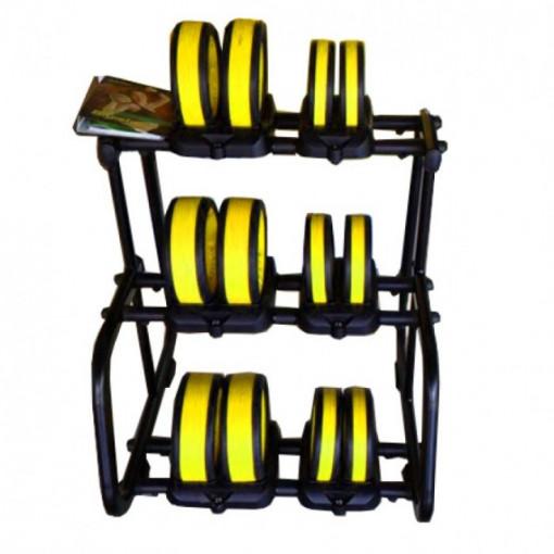 Set gantere de mana cu suport culoarea galben
