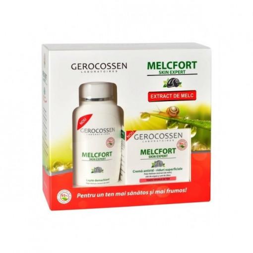 Set cadou Melcfort Crema Riduri Superficiale + Lapte Demachiant