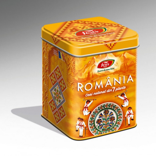 Ceai Suvenir Romania 7 Plante Galben - 75 gr Fares