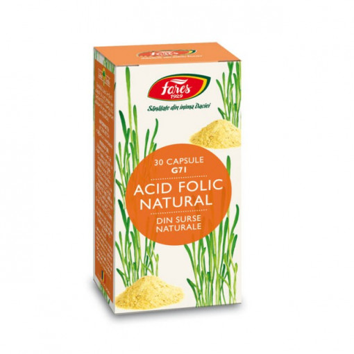 Poze Acid Folic Natural, G71 - 30 cps Fares