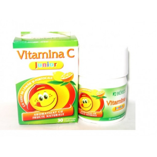 Poze Beres Vitamina C  Junior - 30 cpr masticabile