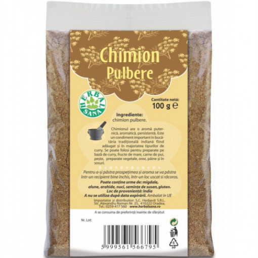 Chimion pulbere - 100 g Herbavit