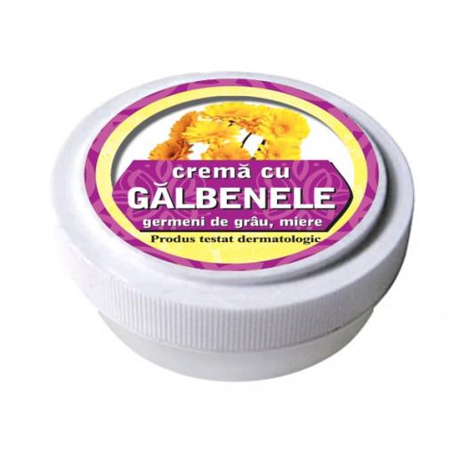 Crema cu extract de galbenele, ulei din germeni de grau, miere de albine 15 g