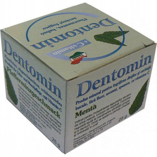 Dentomin-H praf dinti spumant menta - 25 g