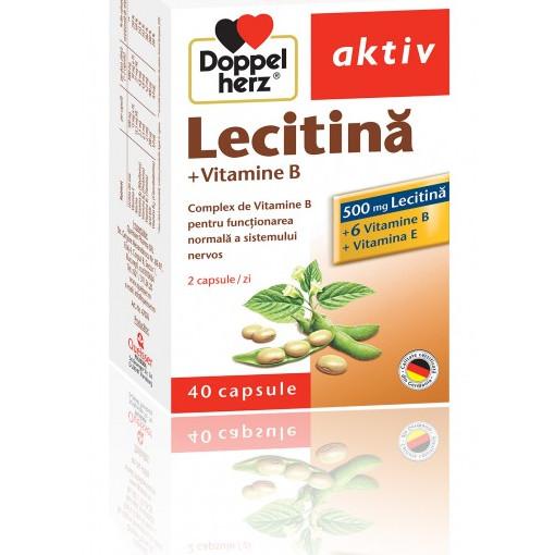 Doppelherz aktiv Lecitina + Vitamina B - 40 cpr