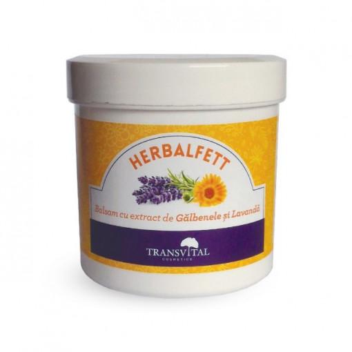 Herbalfett - Balsam cu extract de galbenele si lavanda - 250 ml