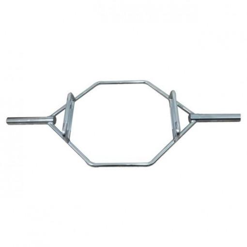 Hex Bar - bara hexagonala din otel cromat Dayu Fitness