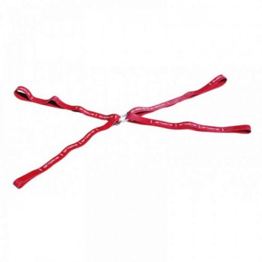 Set 4 benzi elastice Rubberfit cu carlige + poster Sveltus 0585