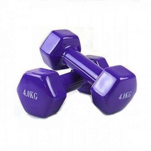Set gantere epoxy 2 x 4 kg Dayu Fitness mov