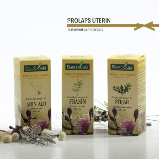 Tratament naturist - Prolaps uterin (pachet)