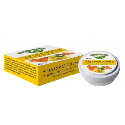 Balsam crema cu galbenele, sunatoare si catina - 15 g