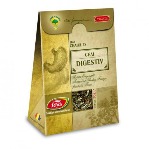 Ceaiul D - Ceai digestiv D41- 50 gr Fares