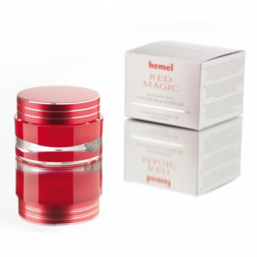 Crema anti-imbatranire Hemel Red Magic Anti - Aging Plus with rose oil and Q10 30 ml