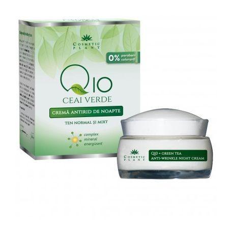 Crema antirid noapte Q10 + ceai verde si complex mineral - 50 ml