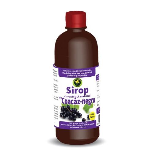 Sirop coacaz negru fara zahar - 500 ml Hypericum