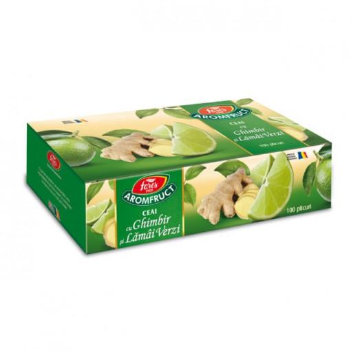 Aromfruct ceai cu ghimbir si lamai verzi - 100 pl Fares