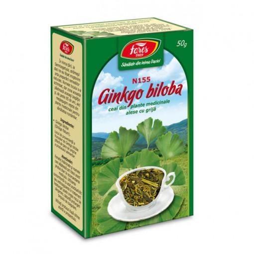 Ceai Ginkgo Biloba - Frunze N155 - 50 gr Fares
