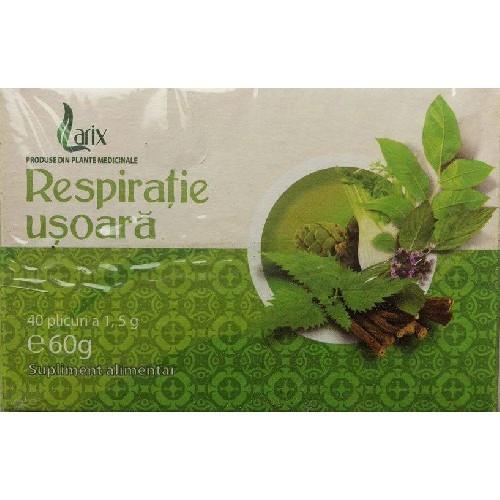 Ceai Respiratie Usoara 40 pl Larix