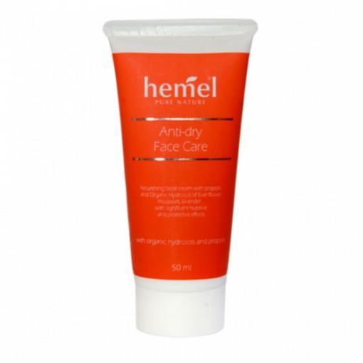 Crema reconfortanta pentru ingrijirea fetei - Hemel Anti-dry face care - 50ml