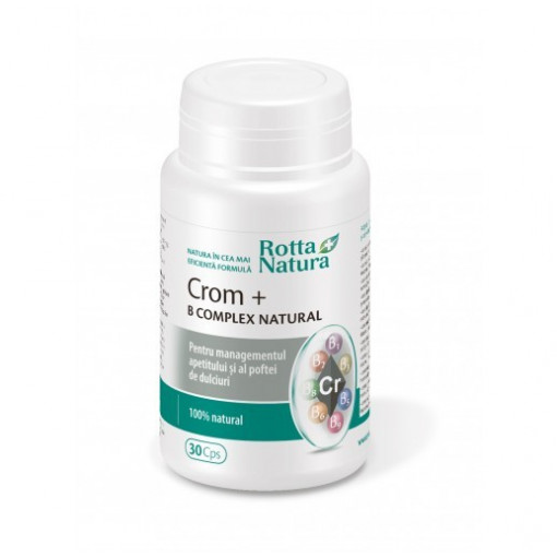 Poze Crom + B Complex Natural - 30 cps