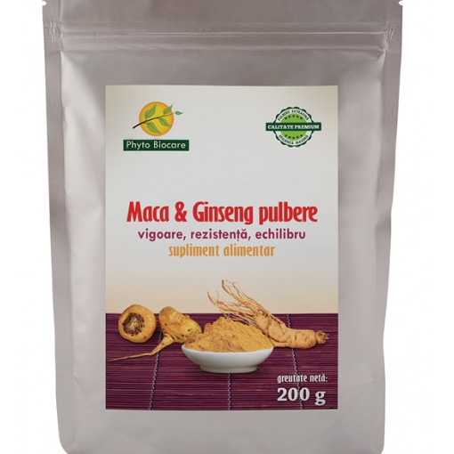Poze Pulbere Maca si ginseng - 200 g