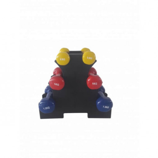 Set gantere aerobic cu suport inclus Dayu Fitness