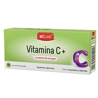 Vitamina C Aroma Struguri - 20 cpr