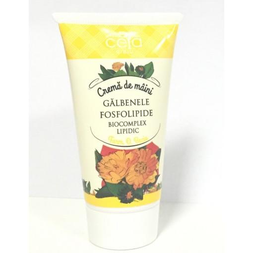Crema de maini cu extract de galbenele si fosfolipide - 50 ml