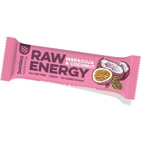 Baton fructe Raw Energy cu fructul pasiunii si cocos - 50 g