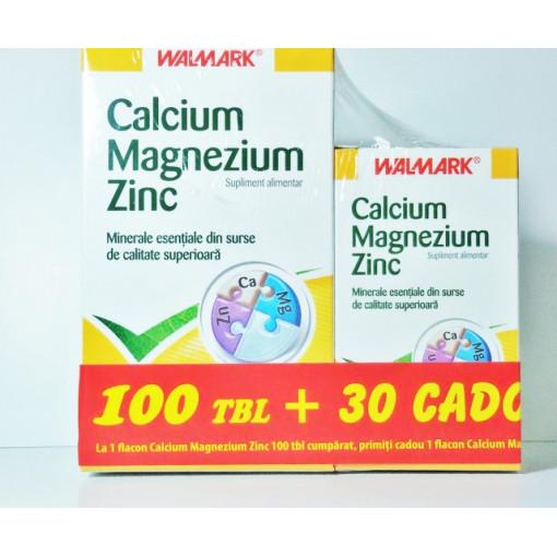 Calcium - Magnezium - Zinc 100 cps + 30 Gratis