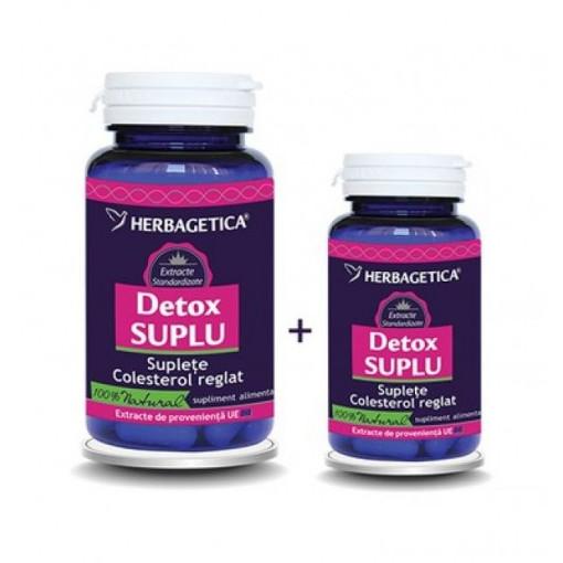 Detox Suplu 60 cps + 10 cps Gratis
