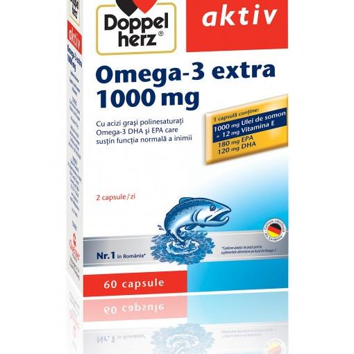 Doppelherz aktiv Omega-3 extra 1000 mg - 60 cps