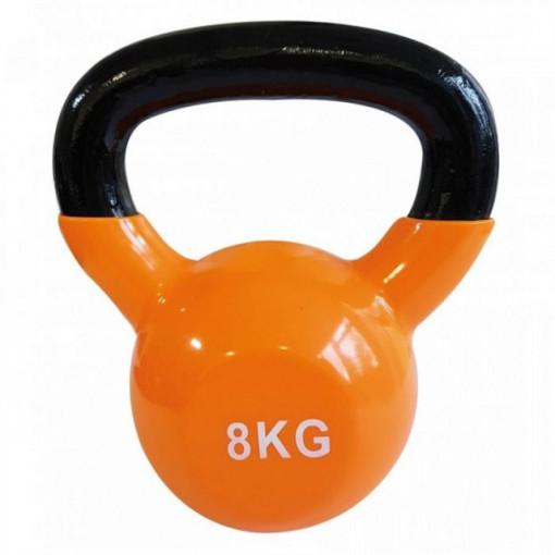 Gantera kettlebell portocaliu 8 kg SVELTUS