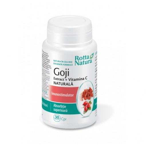 Goji Extract + Vitamina C Naturala - 30 cpr