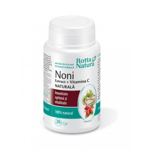 Noni Extract + Vitamina C Naturala - 30 cpr