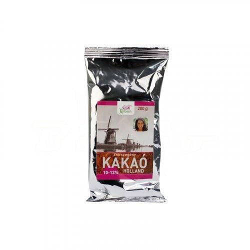 Pudra de cacao degresata olandeza 10-12% - 200 g Szafi Reform