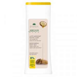 Lapte corp hidratant cu ulei de argan bio si extract bio de aloe vera - 200 ml