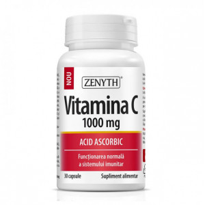 Vitamina C 1000 mg Acid ascorbic - 30 cps