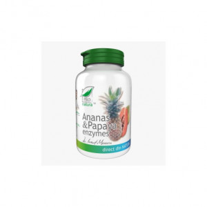Ananas si Papaya Enzymes - 60 cpr