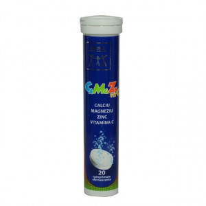 Ca+Mg+Zn+Vitamina C - 20 cpr efervescente