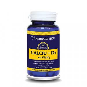 Calciu + D3 cu Vit. K2 - 30 cps