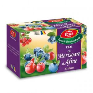 Ceai cu merisoare si afine - 20 dz Fares
