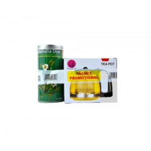 Ceai Verde Superior cutie metalica - 100 g + Ceainic - 1250 ml Promo
