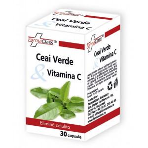 Ceai verde & Vitamina C - 30 cps