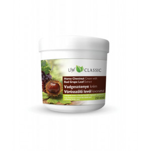 Crema pentru picioare cu extract de castane si frunze de vita de vie rosie - 250 ml