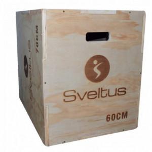 Cutie pliometrica din lemn, 50X60X70 cm, SVELTUS