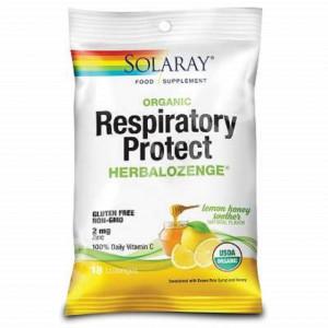 Dropsuri pentru gat Respiratory Protect Lemon Honey Soother - 18 buc