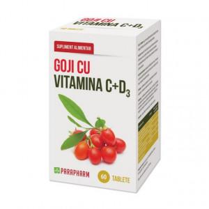 Goji cu Vitamina C + D3 - 60 tbl