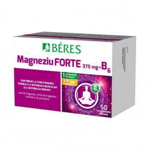 Magneziu forte 375 mg + B6 - 50 cpr